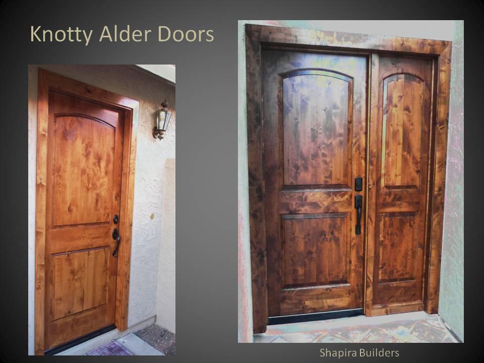 Knotty Alder Wood Doors