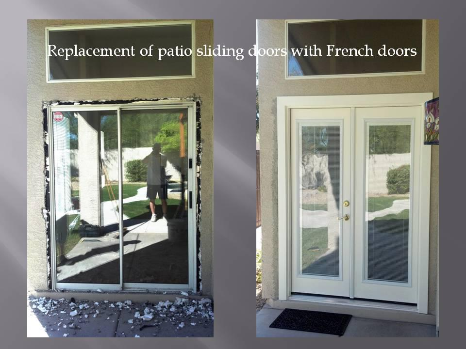Replacing Patio Sliding Doors With French
