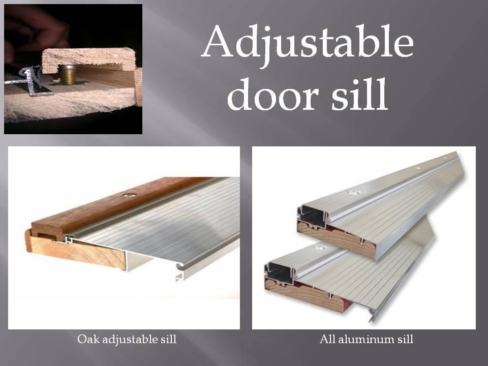 Adjustable door sill threshold shapira builders - Exterior door threshold home depot ...