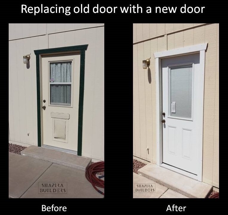 Before And After Old Door A New