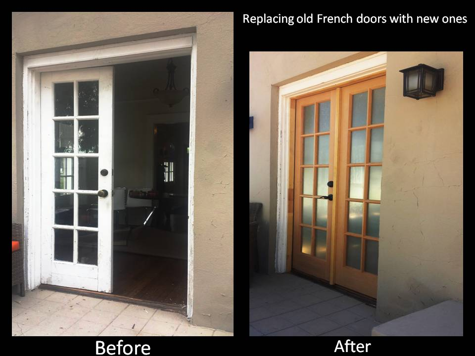 Replacing Old French Doors With New