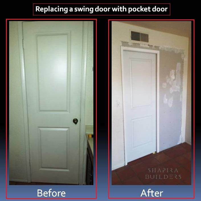 Replacing A Swing Door With A Pocket Door Using Johnson